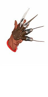 Description #1231 This Nightmare on Elm Street Freddy Krueger Glove gives you the terrifying killer hand of one of the most notorious villains. It features a cloth glove base, adjustable finger straps