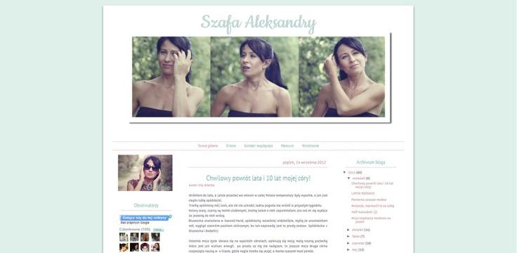 Hafija's Blogger Design: Szafa Aleksandry