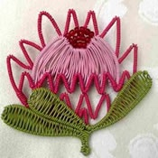 scooby wire protea brooch by magda from vir vonk en vaderland (South Africa) - national flower