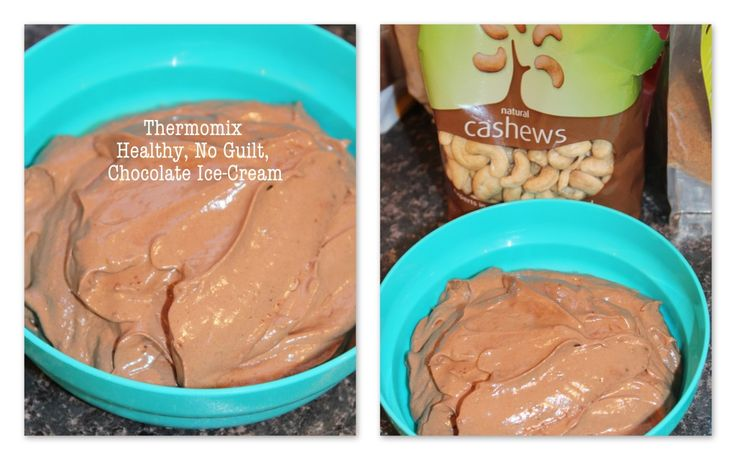 Thermomix Chocolate Sorbet Ingredients  160 grams raw cashews 350 to 400 grams ice cubes 1 teaspoon vanilla essence 30 grams raw cacao powder 100g dates (out of the packet) 50 grams coconut palm sugar 1 ripe avocado
