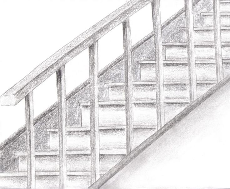 pencil stair drawing