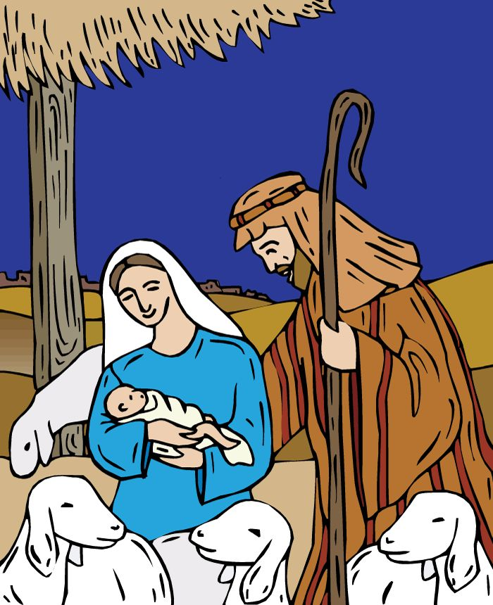A simple, illustrated story of the birth of Jesus. This nativity story is suitable for primary-aged children. #christmas