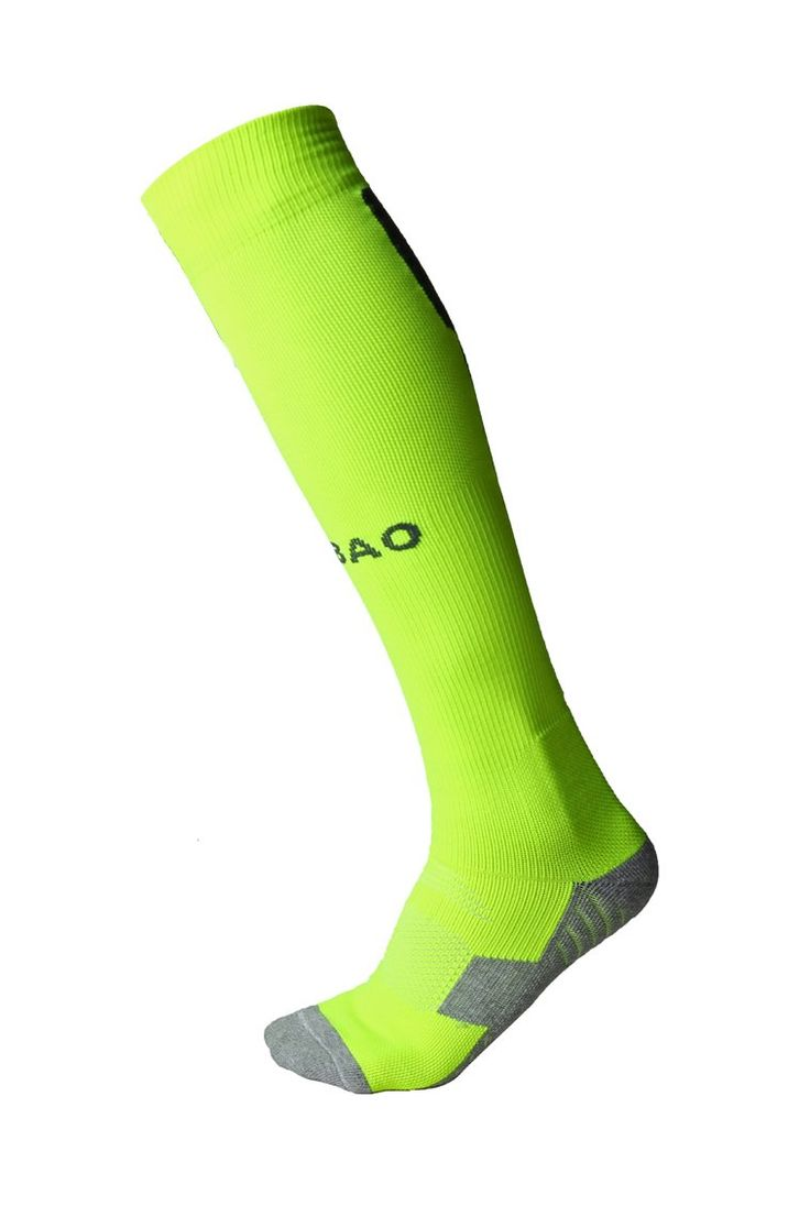 Mens Sports Athletic Compression Football Soccer Socks Over Knee High Team  Socks (one size, Green). Material: 86% cotton, 12% polyester, 2% spandex.