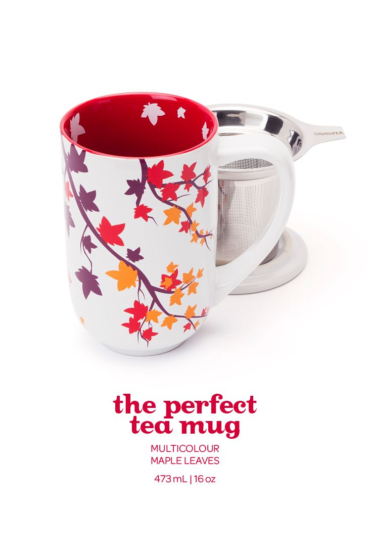 FALL 2014 - This super-autumnal mug is the perfect companion for a cozy afternoon.