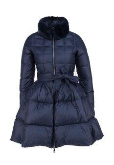 Пуховик Odri, цвет: синий. Артикул: OD001EWGUT32. Женская одежда / Верхняя одежда / Пуховики и зимние куртки
