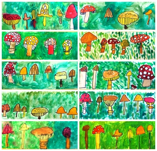 Herfst! Paddenstoelen cute idea, and if there are any instructions I wouldn't…