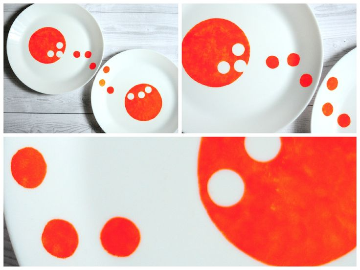 am imbulinat-o! :) farfurie pictata manual de anaisme. hand painted plate by anaisme (orange)