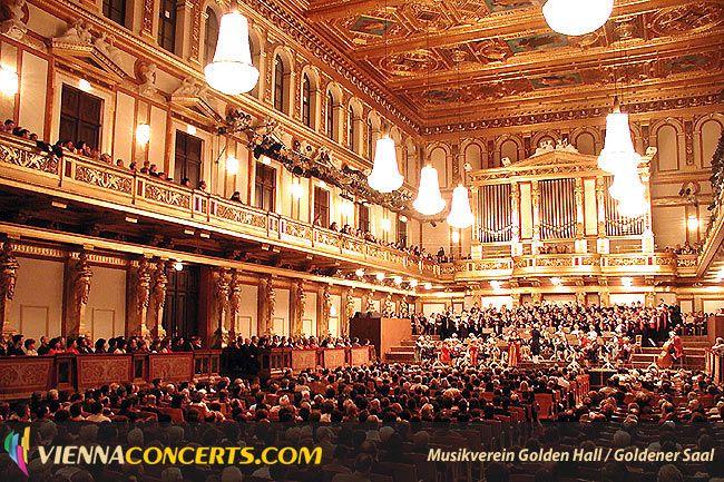Vienna Mozart Orchestra performing in the Golden Hall, Vienna State Opera, Konzerthaus, Hofburg