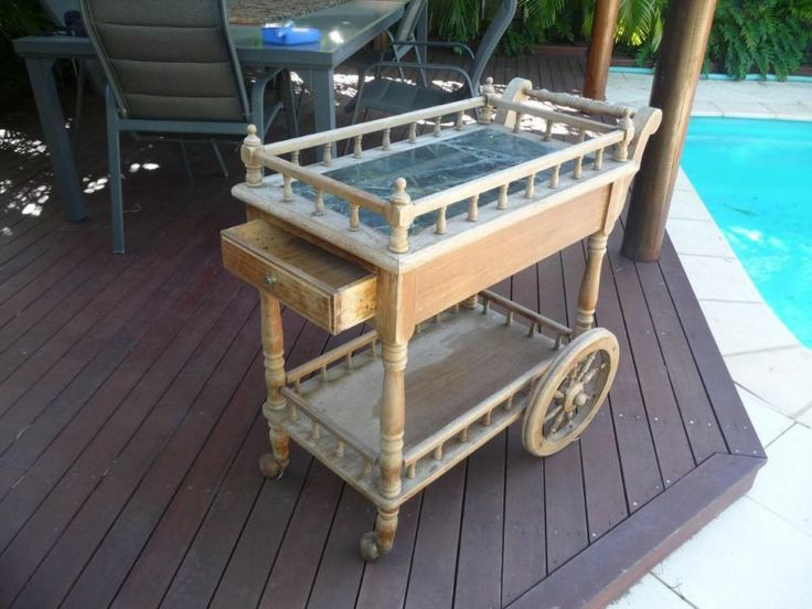 vintage tea trolley (over 80 years old), available for hire from Treenridge weddings, Pemberton, from October 2014.
