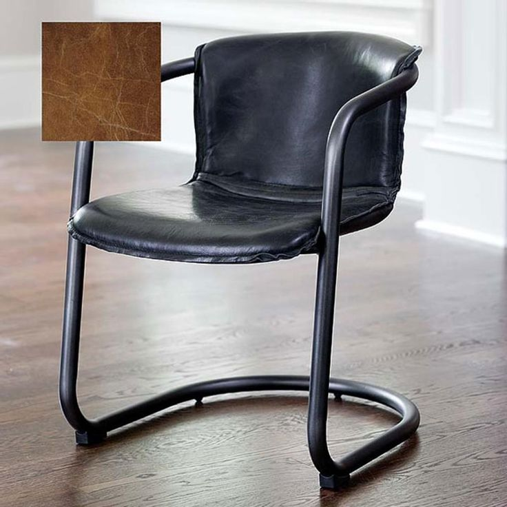 Regina Andrew Cigar Brown Axl Chair | Designer Furniture | Leather Seating