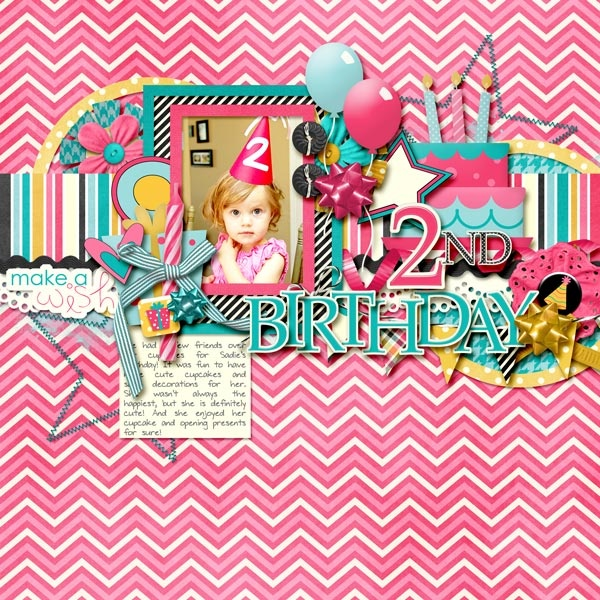 Birthday Scrapbooking Page #scrapbooking #cardmaking