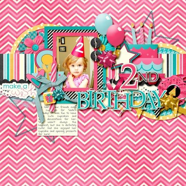 2nd Birthday - Scrapbook.com: Kids Scrapbooking, Scrapbook Layouts, Scrapbooking Birthdays, Scrapbook Com, Layouts Birthdays, Birthday Layouts, 2Nd Birthday, Scrapbooking Layouts