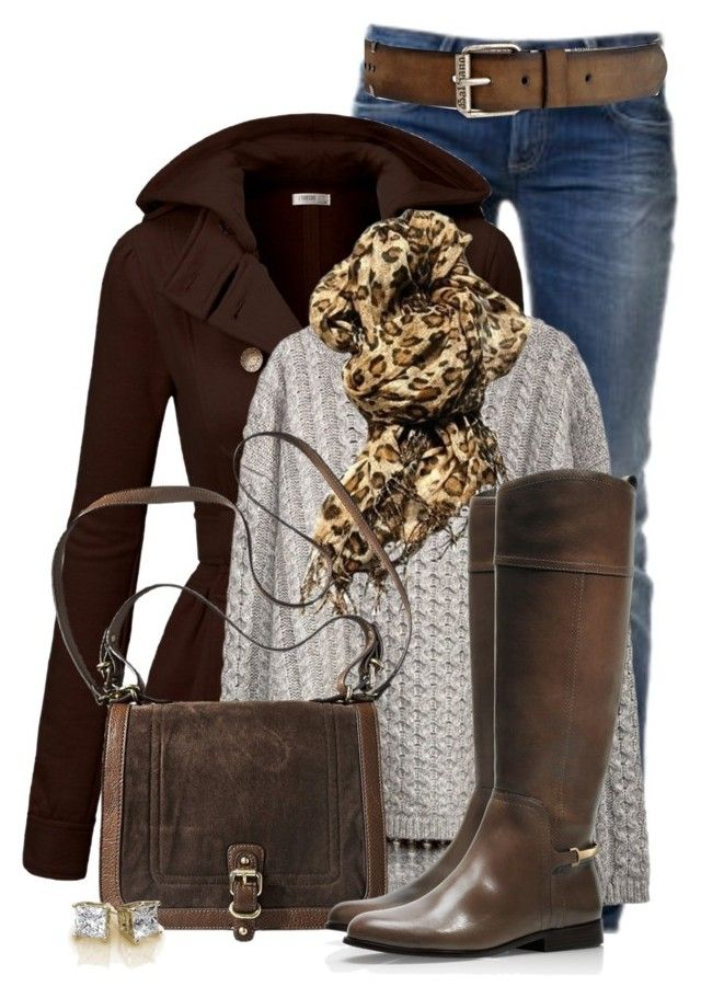 """Trench Coat and Riding Boots"" by colierollers ❤ liked on Polyvore featuring GAS Jeans, J.TOMSON, Tory Burch and John Galliano"