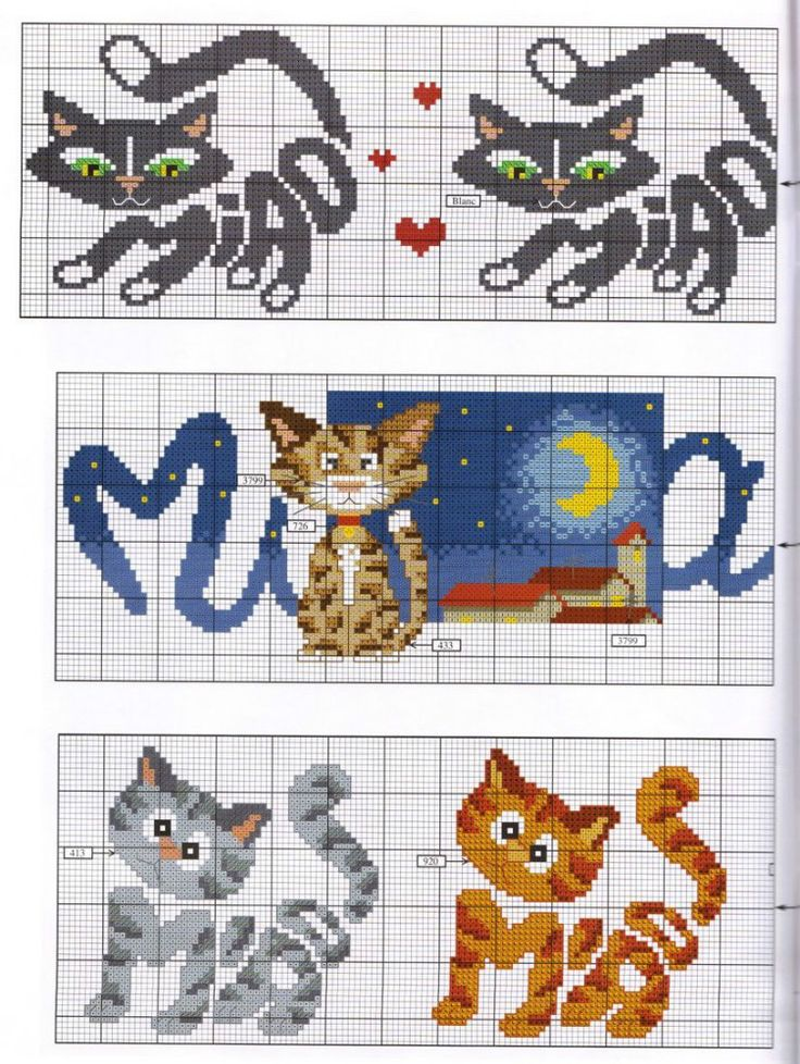 Cross stitch *<3* Cats