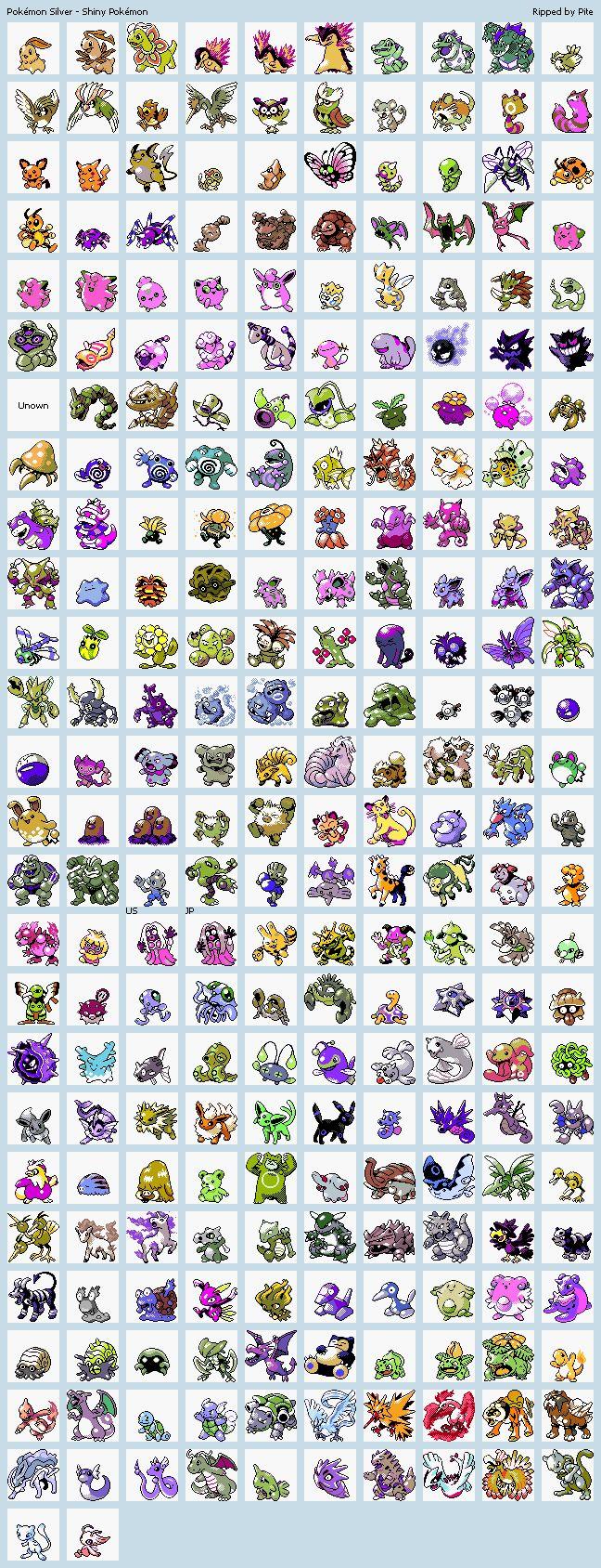 Pokemon silver version shiny pok mon pinterest - Pokemon argent pokemon rare ...