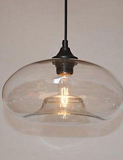 moderne karakteristieke 1 licht hanger met transparante schaduw – EUR € 60.56