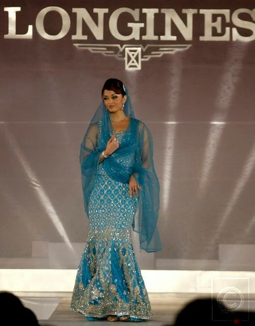 #AishwaryaRai in #Designer Blue #BridalLehenga