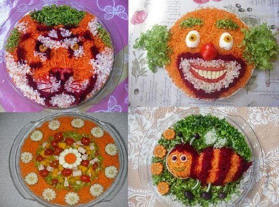 saladas decoradas passo a passo - Pesquisa Google