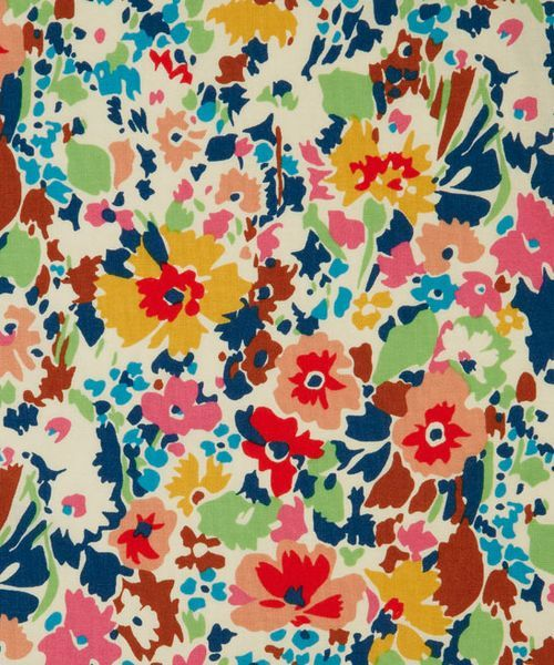 liberty lifestyle art fabrics: red garnett cotton craft fabric - liberty of london, originally printed at merton in 1971 [link to liberty london website]: Liberty Print, Lifestyle Fabrics, Liberty Lifestyle, Red Garnett, Floral Pattern