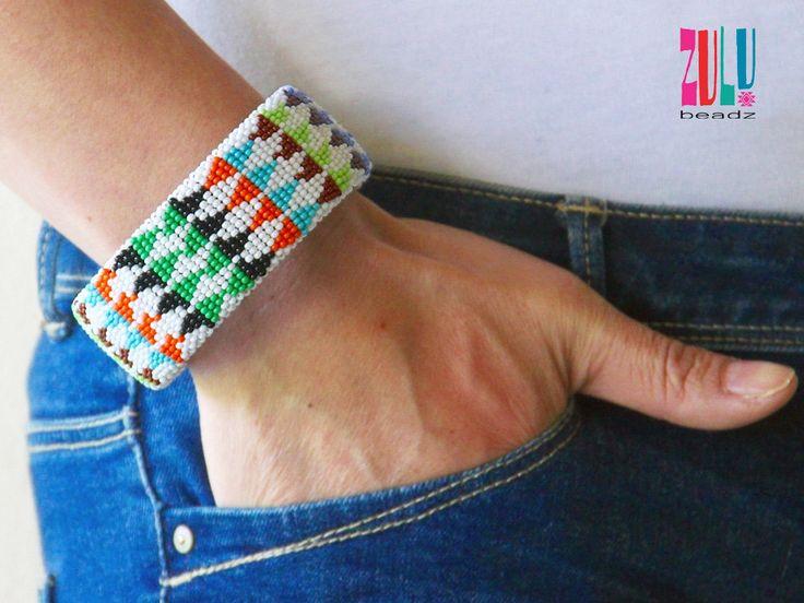 THEMBI - Zulu Beaded Bracelet - Multicolour by ZuluBeadz on Etsy