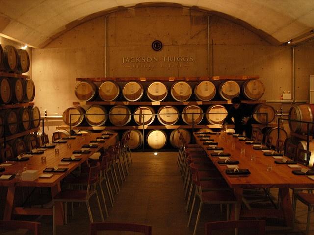 Jackson Triggs winery cellar