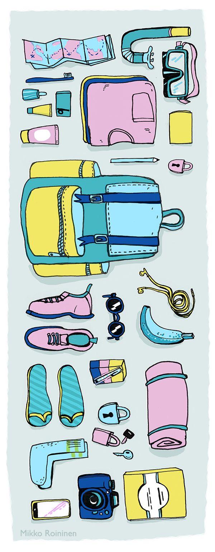 illustration by Mikko Roininen for Lapin Kansa newspaper