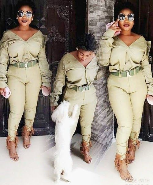 A pretty young lady has been trailed with criticisms on social media after a photo where she rocked her NYSC uniform in an indecent way emerged online.  The female corps member  The above photo of a female member of the National Youth Service Corps (NYSC) has emerged online and is making rounds on social media.  The young lady who has been trailed with mixed reactions and criticisms by online users was seen wearing a re-designed Khaki uniform in an appropriate way where her chest regions…