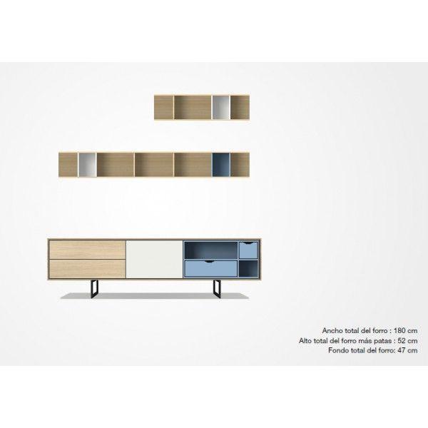 Mueble tv d 1 de treku muebles modernos aparadores for Aparadores modernos