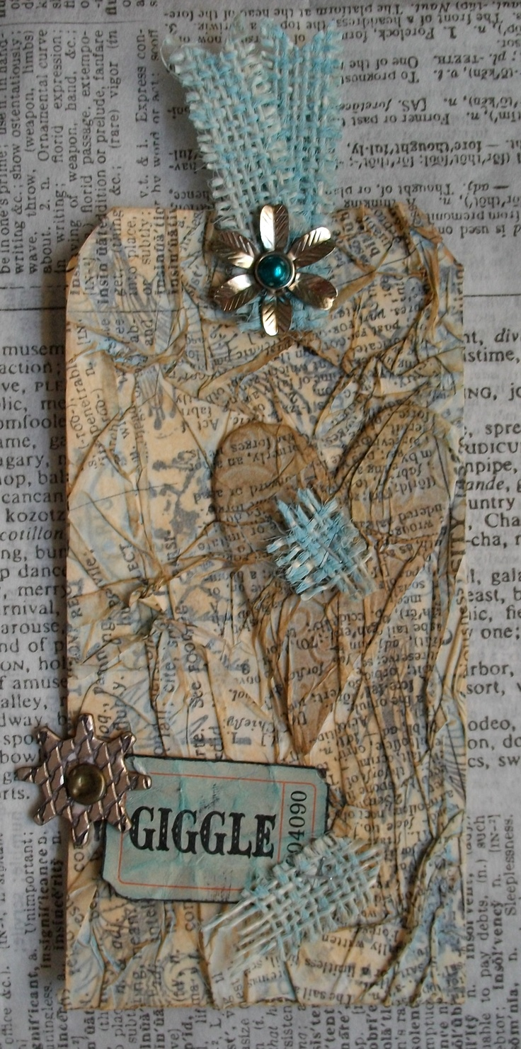 <3, <3, <3 this tag for all it's texture. Love tissue paper.