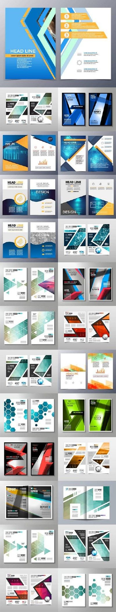 Business cover flyers brochure design