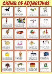 English Exercises: Adjective Order