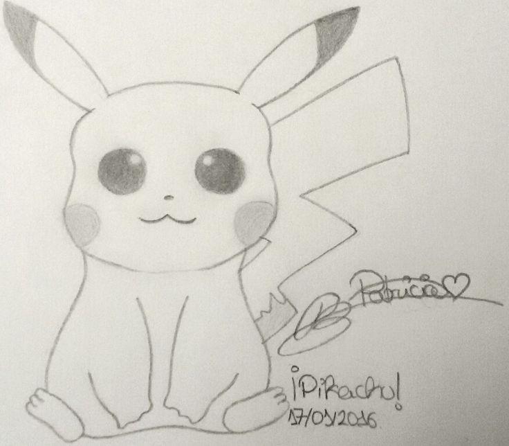 ¡Wooolas! ^.^ He dibujado a Pikachu. (No me preguntéis por qué, no lo sé ni yo...  Solo, me apetecía dibujarle.) ¿Qué os parece?