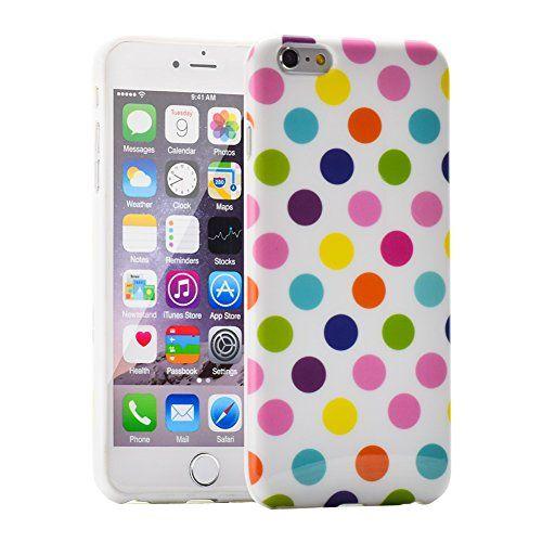"I3C 5.5"" iPhone 6 Plus Cases Polka Dot Series Durable Soft Flex Gel Silicone TPU Cover (White+Muticolor) I3C http://www.amazon.com/dp/B00WDS5FT8/ref=cm_sw_r_pi_dp_WJAGvb0AX6N3P"