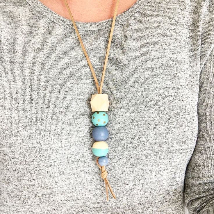 DIY Wooden Bead Necklaces // HUNT & GATHER //