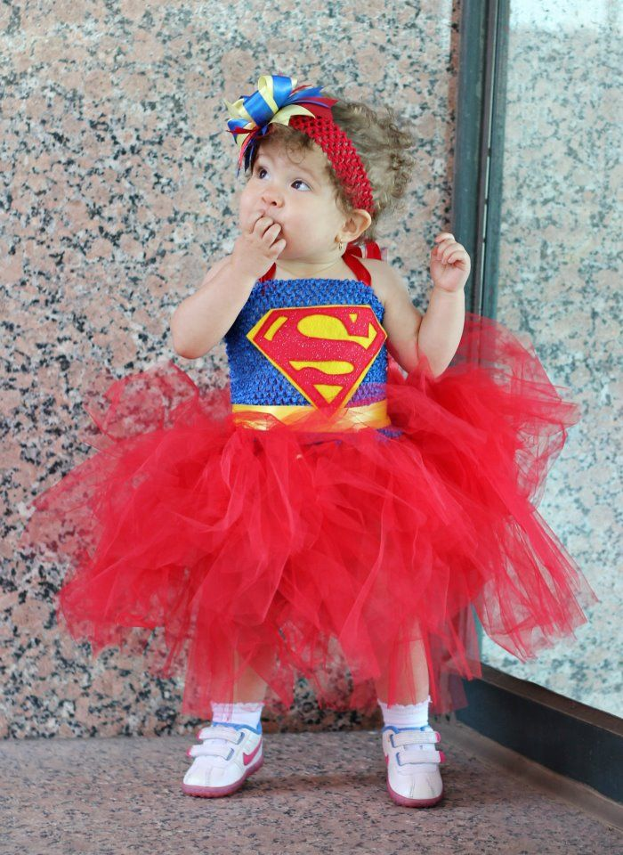 LYDIA Superman Tutu Dress Costume $35