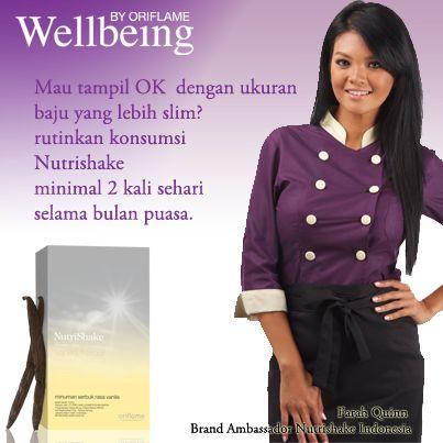 Tampil lebih slim ala Farah Quinn (Brand Ambassador Nutrishake Indonesia)