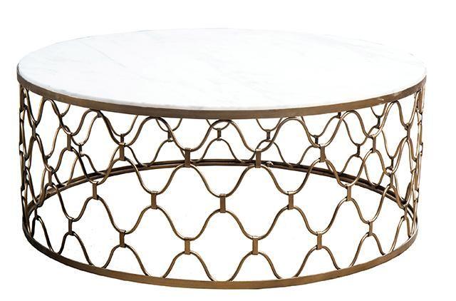 GlobeWest - Industria Uovo Marble Coffee Table