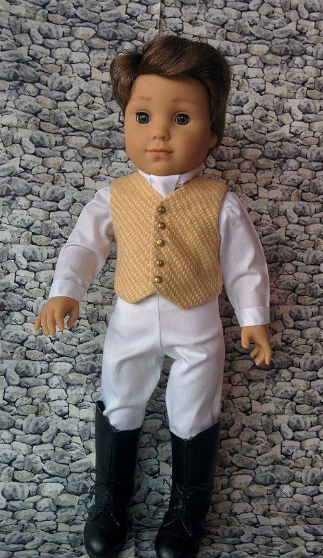 from AG Doll House - Logan American boy doll in Regency attire clothing