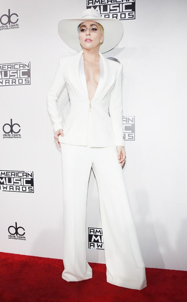 Lady Gaga from AMAs 2016: Best Dressed Stars  Pristine and poised in exquisite tailoring.