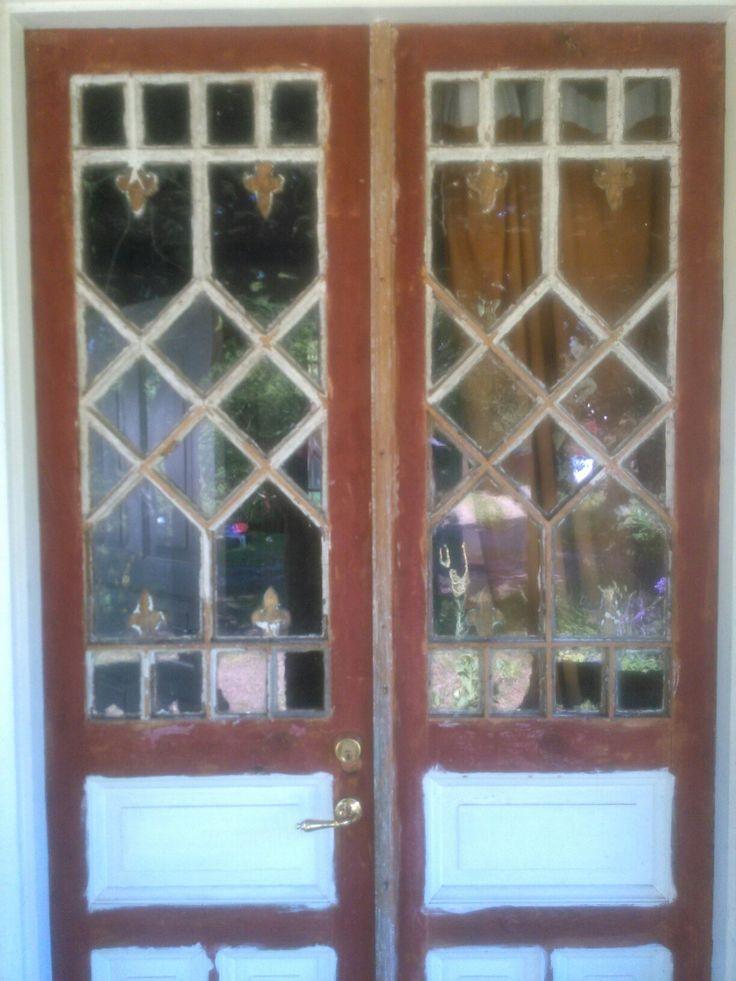 The front Door before repainting