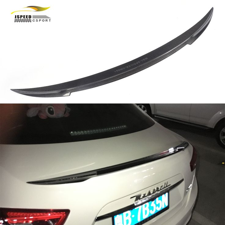For Ghibli Car Styling Carbon fiber Rear Racing Wings Lip Spoiler for Maserati Ghibli Sedan 2014UP //Price: $495.99 & FREE Worldwide Shipping //     #Worldwide