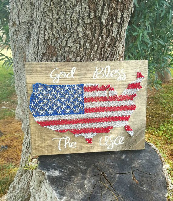 God Bless The USA String Art by SBPersonalCreations on Etsy