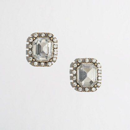 simple crystal earrings / j.crew factory