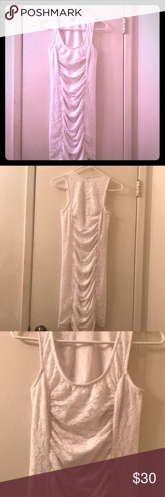 ✨BNWOT White Lace Guess Dress XS✨ Sexy white lace minidress from Guess. Brand new without tags! Size XS. Guess Dresses Mini