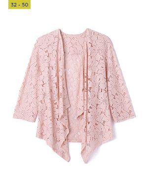 baby pink lace coverup