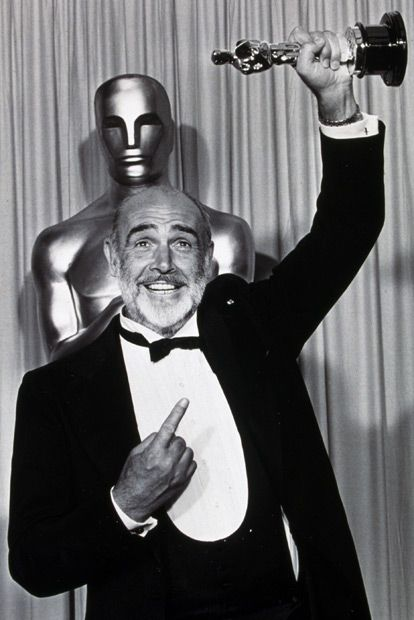 "The only Bond to win an Oscar - Sean Connery. He won it for ""The Untouchables"" though, not for a Bond movie."