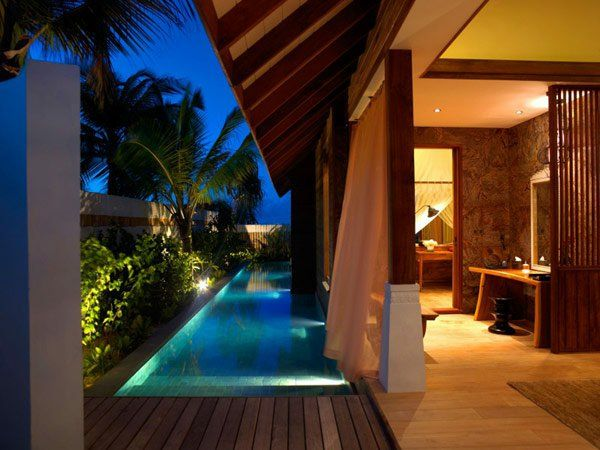 Die besten 25+ Strandhaus Außenbereich Ideen auf Pinterest - pool mit glaswand garten