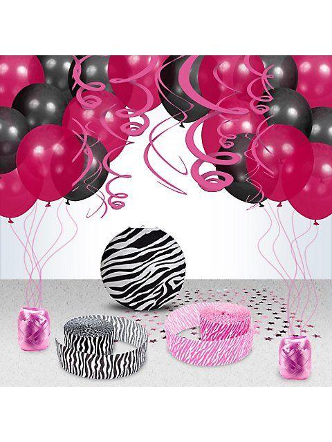 Zebra Party Decoration Kit