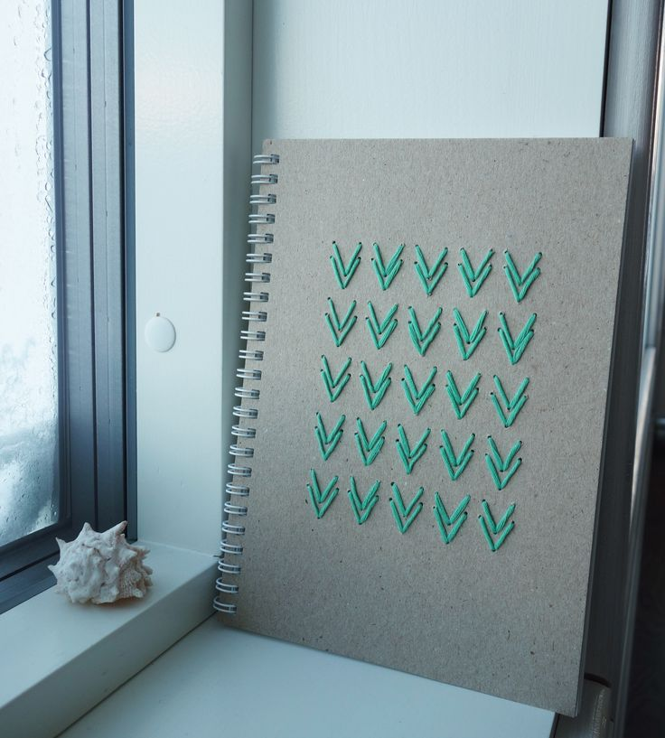 Embroided notebook cover