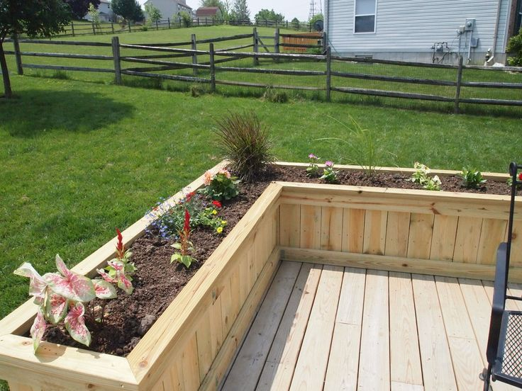 Deck Flower Box Project Sawdust Therapy Deck Planters 400 x 300
